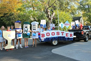 Booster Club in the parade 640x427